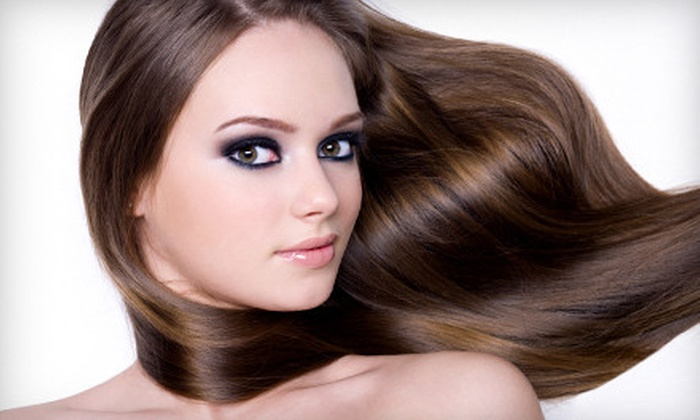 Mystique Hair Studio - Washington: $85 for Brazilian Blowout or Keratin Smoothing Treatment at Mystique Hair Studio in Huntington Beach (Up to $350 Value)
