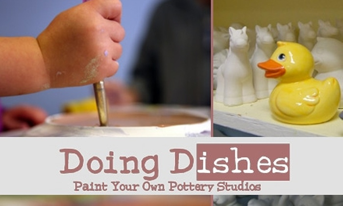 Doing Dishes Pottery Studios - Multiple Locations: $10 for $25 Worth of Paint-Your-Own Ceramics and Glass Fusing at Doing Dishes Pottery Studios