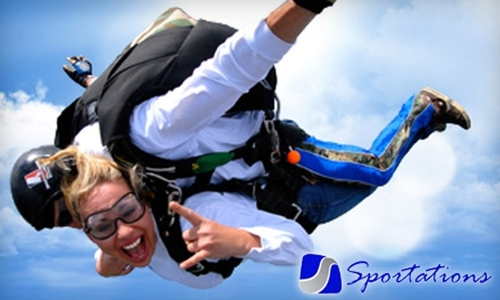 Sportations - Perkasie: $119 for a Skydiving Session from Sportations in Perkasie (Up to a $250 Value)