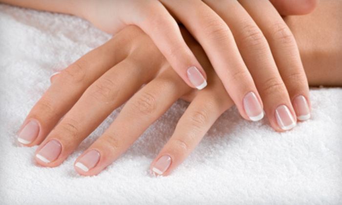 Armonia Body Therapy - E. E. Smith: Traditional Manicure with Shellac or Traditional Pedicure at Armonia Body Therapy in Fayetteville (Up to 52% Off)
