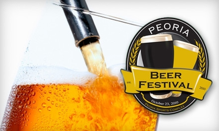 Peoria Beer Festival - Peoria: $45 for One Ticket to the Peoria Beer Festival on Saturday, October 23 in Peoria ($75 Value)