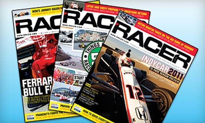 "Racer: $20 for One-Year Subscription to ""Racer"" Magazine ($49.95 Value)"