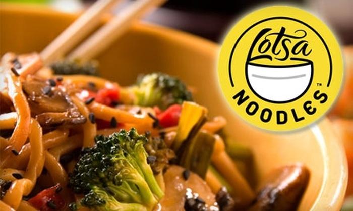 Lotsa Noodles - Northwest Oklahoma City: $10 for $20 Worth of International Fare at Lotsa Noodles