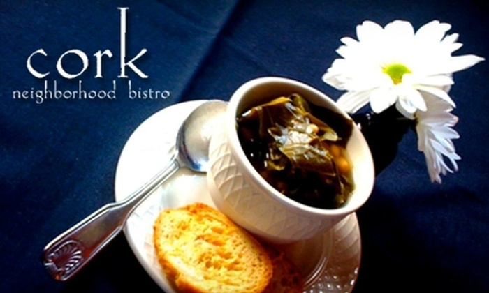 Cork Neighborhood Bistro - North Charleston: $25 for $50 Worth of Seasonal Dinner Fare or $10 for $20 Worth of Lunch Fare at Cork Neighborhood Bistro