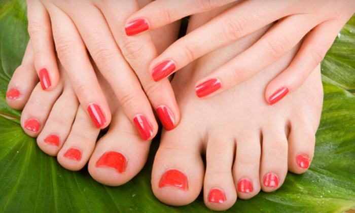 A Visible Difference Beauty Concepts - Oakdale: Mani-Pedi or Haircut Package with Electrotherapy Head Massage at A Visible Difference Beauty Concepts (Up to 63% Off)