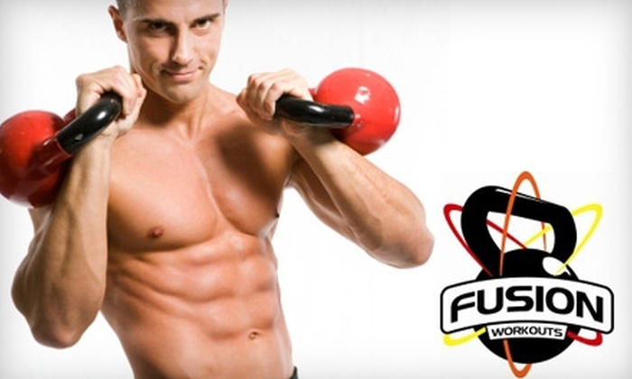 Fusion Workouts - Newton Center: $30 for One Month of Unlimited Kettlebell Fitness Classes at Fusion Workouts in Newton ($129 Value)