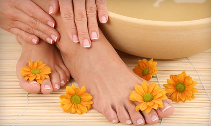 Amber Door Spa - Oakville: OPI Manicure and Detox Pedicure with Option for Facial at Amber Door Spa in Oakville (Up to 63% Off)