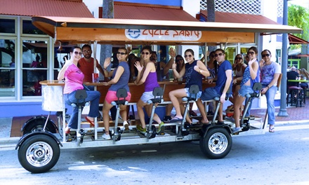 Two-Hour Pub Crawl on a 15-Person Bike from Cycle Party (50% Off). Two Options Available.