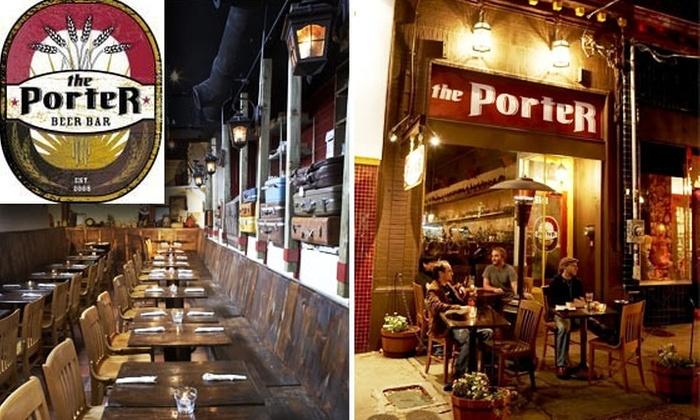 The Porter Beer Bar - Little Five Points: $15 for Gourmet Pub Grub at Porter Beer Bar