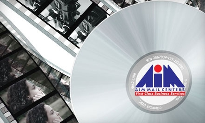 AIM Mail Center - De Voss - Leigh: $9 for Two Hours of Videotape-to-DVD Conversion at AIM Mail Center ($24.95 Value)