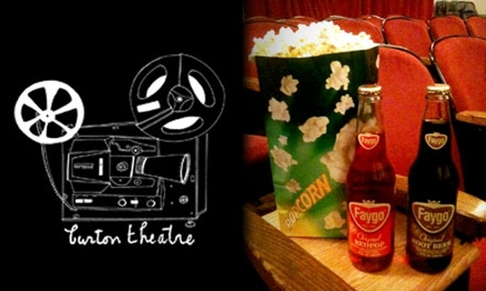 Burton Theatre - Detroit: $10 for Two Movie Tickets, Two Sodas, and a Large Popcorn at Burton Theatre