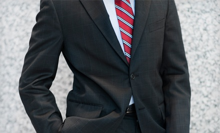 Custom Egyptian Cotton Dress Shirt and Silk Tie with an Option for a Custom Suit at Just White Shirts (Up to 53% Off)