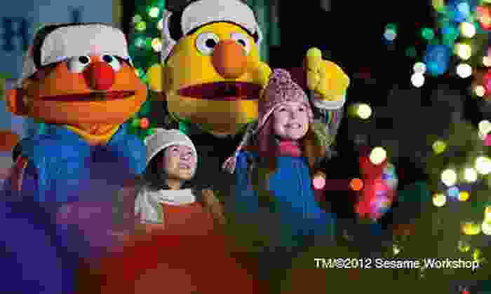 """Sesame Place - Sesame Place: """"A Very Furry Christmas"""" Celebration for Two, Three, or Four at Sesame Place (Up to Half Off)"""