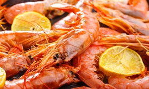 Jimmy's Killer Prawns Gateway: Prawn and Chicken Platter for R199 for Two at Jimmy's Killer Prawns Gateway (33% Off)