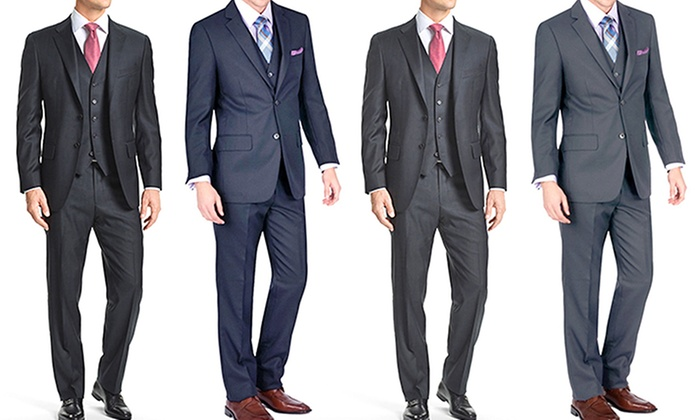 Gianni Uomo Men's 3-Piece Suits - Gianni Uomo Men's Slim-Fit 3 ...
