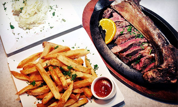 Talia's Steakhouse & Bar - Manhattan: Steak-House Prime Rib Dinner for Two or Four at Talia's Steakhouse & Bar (Up to 55% Off)