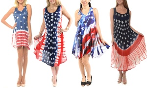 cc1d5ce456b46 Fourth of July Women's Printed Casual Dresses. Plus Sizes Available.