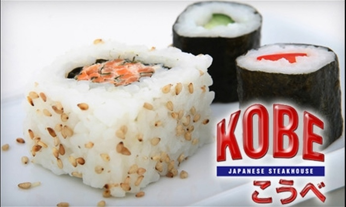 Kobe Japanese Steakhouse - Jeffersonville: $15 for $30 Worth of Sushi and Japanese Cuisine at Kobe Japanese Steakhouse in Jeffersonville