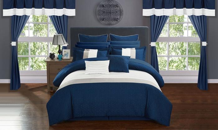Athena Comforter Set With Matching Window Treatments 24