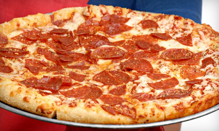 Baby Tommy's Taste of New York - Multiple Locations: $12 for a Large One-Topping Pizza, a Large Garden Salad, and Four Fountain Drinks at Baby Tommy's Taste of New York (Up to $28.60 Value)