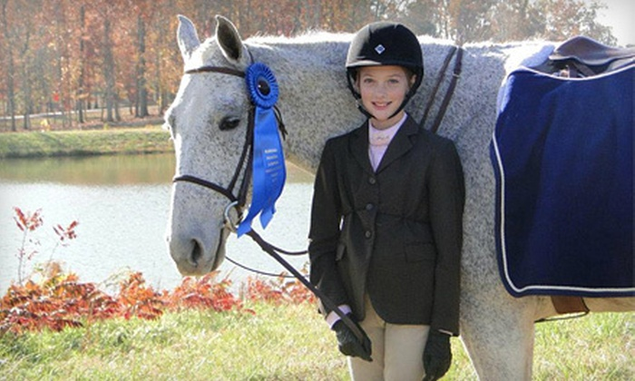 Hidden Hills Equestrian Center - Chelsea: One, Two, or Four Lessons or Two Months of Horse-Riding Lessons at Hidden Hills Equestrian Center in Wilsonville (Up to 69% Off)