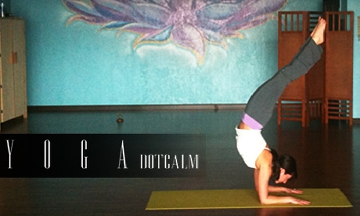 YogaDotCalm - Lawton: Unlimited Yoga or Pilates Classes at YogaDotCalm in Lawton. Choose Between Two Options.