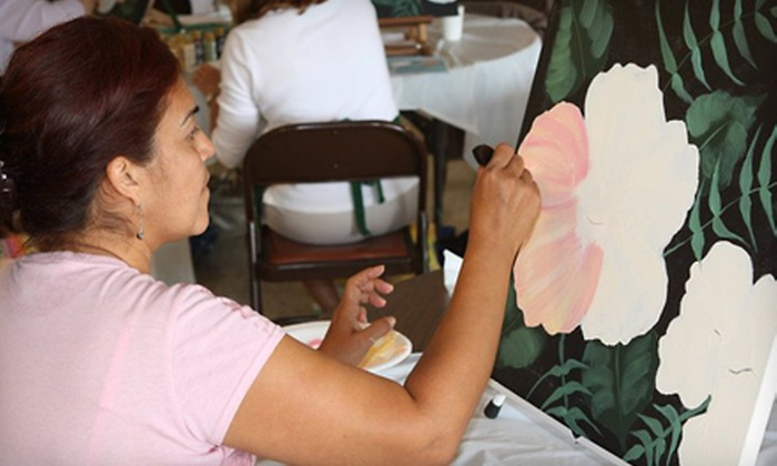 AprilNDesigns - Southwood Riviera: $75 for a Full-Day One Stroke Acrylic Painting Workshop from AprilNDesigns in Torrance ($160 Value)
