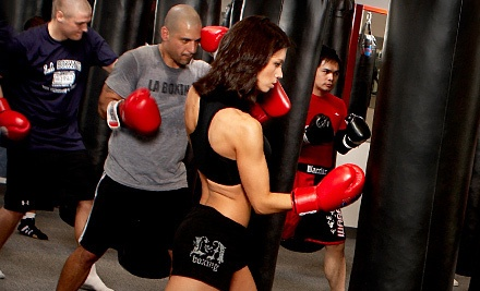 3 One-Hour Group Kickboxing or Boxing Classes (a $70 value) - LA Boxing of Colorado in Littleton