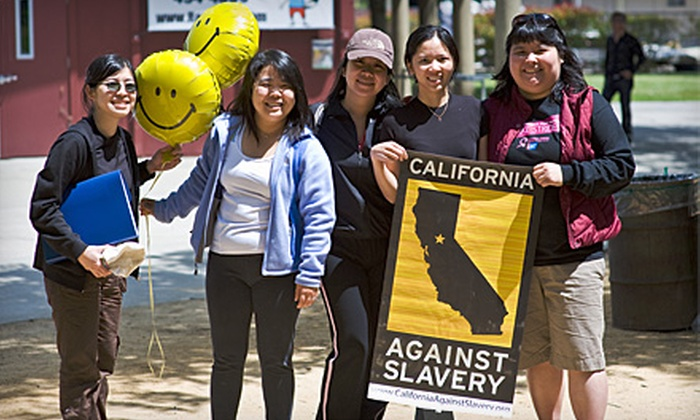 California Against Slavery - Marina Faire: $15 for Registration in the Move to Stop Modern Day Slavery Walkathon from California Against Slavery (Up to $40 Value)