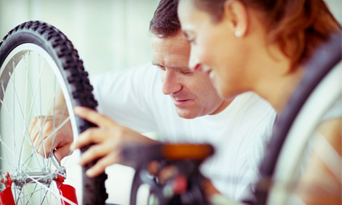 South Shore Bicycle & Fitness - Multiple Locations: Basic Bike Tune-Up or Overhaul Tune-Up at South Shore Bicycle & Fitness (Up to 58% Off)