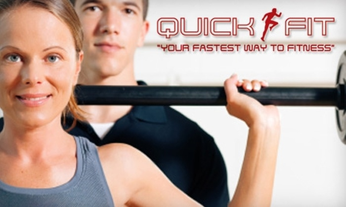 Quick Fit - Multiple Locations: $29 for a Two-Month Membership and One Personal Training Session at Quick Fit