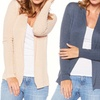 Women's Plus Size Ribbed Cardigans