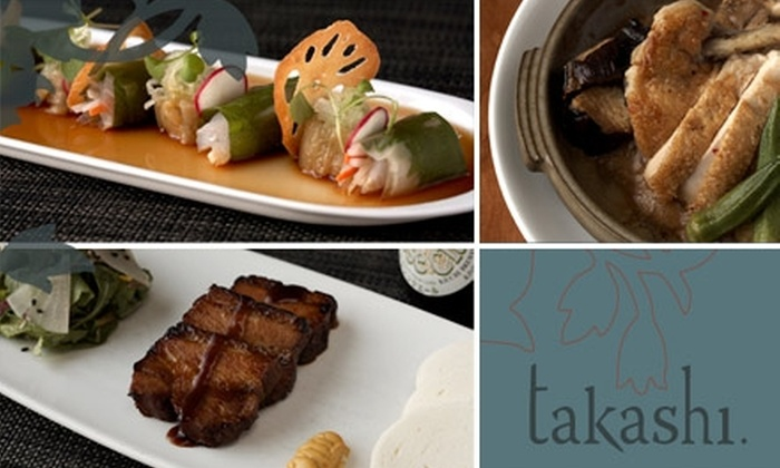 Takashi  - Bucktown: $25 for $50 Worth of Japanese-Influenced French-American Cuisine at Takashi