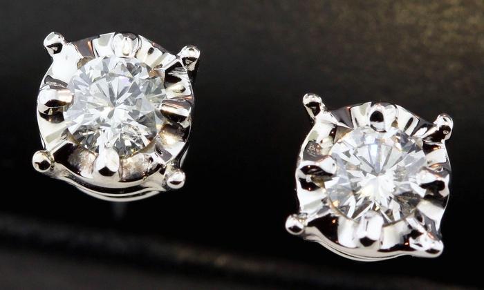 Forever gems - body ,heart and soul - Alpharetta: $549 for $999 Worth 1/4 Carat Diamond Studs  — Forever Gems - Body Heart and Soul