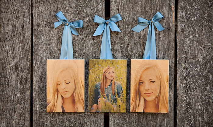 "Custom Wooden Photo Boards: Three 5""x7"" Photo Boards, or One 8""x10"" or 16""x20"" Photo Board from PhotoBarn (Up to 63% Off). Free Shipping."