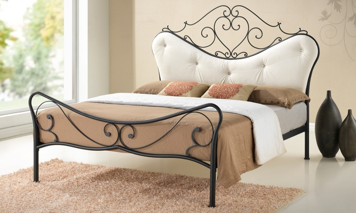 Shabby Chic Wrought Iron Bed Groupon Goods