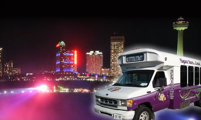 Niagara Fun Tours - Multiple Locations: Niagara Winter Lights Tour for One, Two, or Four People from Niagara Fun Tours (Up to 65% Off)