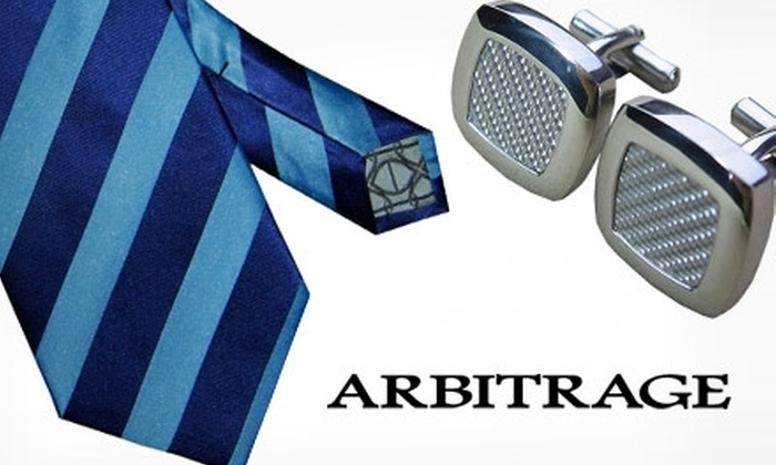 Arbitrage - Boston: $35 for Your Choice of Cuff Links Or a Tie from Arbitrage