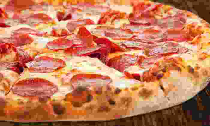 Pizza Master Fusion - Coral Springs: Meal for Four or Eight with Pizza, Pasta, & Breadsticks at Pizza Master Fusion (Up to 50% Off). Two Options Available.