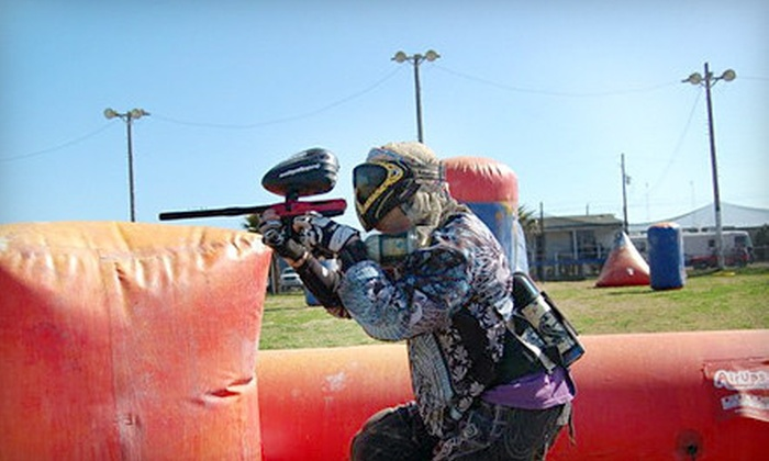 Galveston Island Paintball - Galveston: All-Day Paintball Outing with Gear and Ammo for 2, 4, or 10 at Galveston Island Paintball in Galveston (Half Off)