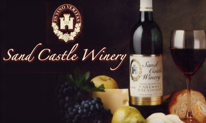 Sand Castle Winery - Tinicum: $10 for a VIP Wine Tour, Tasting, and Food-Pairing Demonstration at Sand Castle Winery ($20 Value)