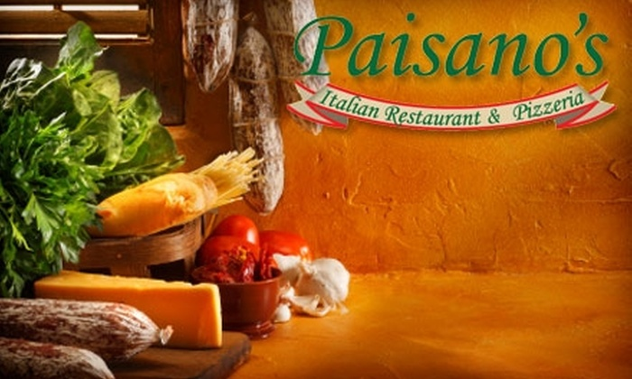 Paisano's Italian Restaurant - Huntsville: $10 for $25 Worth of for Italian Fare and Drink at Paisano's Italian Restaurant in Dallas