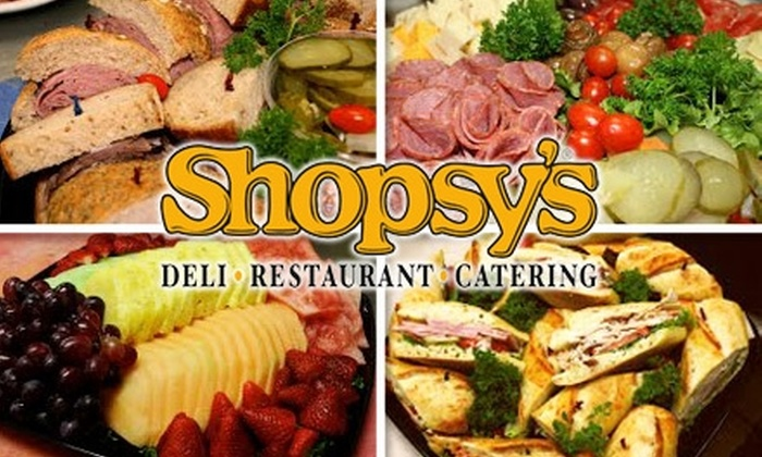 Shopsy's - Toronto (GTA): $40 for $100 Worth of Catering Services from Shopsy's