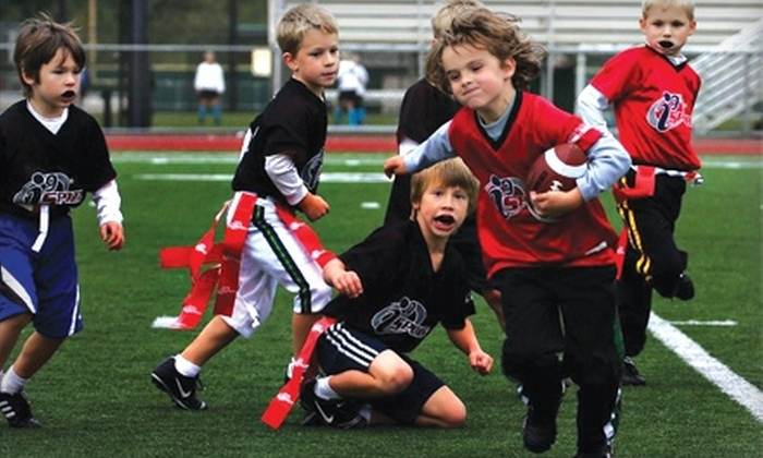 i9 Sports North and North Central San Antonio - Multiple Locations: Kids' League or Camp from i9 Sports North and North Central San Antonio. Three Options Available.