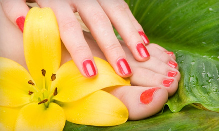 Posh! Nail Studio - West Albany: Signature Pedicure or Choice of Gelish Polish or Forever French Manicure at Posh! Nail Studio