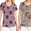 G-Collection Women's Plus-Size Printed Tops