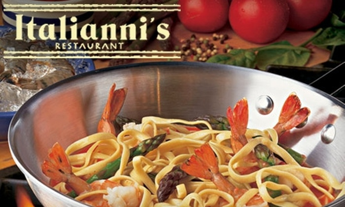 Italianni's Restaurant - University Plaza: $15 for $30 Worth of Italian Cuisine at Italianni's Restaurant
