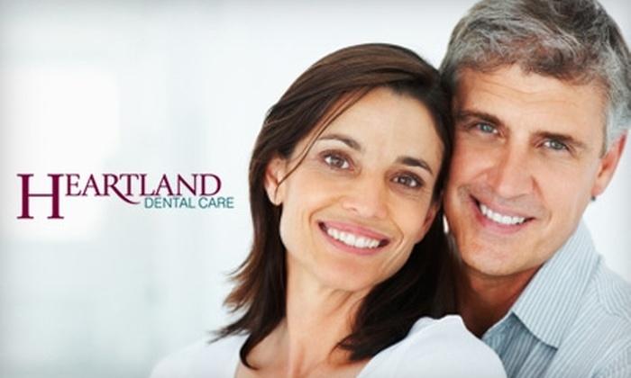 Heartland Dental Care - Multiple Locations: $45 for a Comprehensive Dental Exam, X-rays, and Teeth Cleaning from Heartland Dental Care ($321 Value). 12 Locations Available.