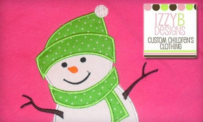 Izzy B Designs: $10 for a Custom Children's T-Shirt from Izzy B Designs (Up to $25 Value)