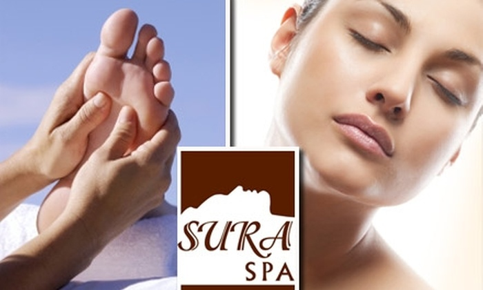Sura Spa - Noblesville: $55 for a Hydrafacial Express and Reflexology Foot and Hand Massage at Sura Spa ($140 Value)